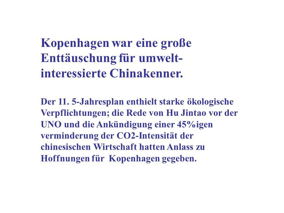 Kopenhagen war eine große Enttäuschung für umwelt-interessierte Chinakenner.