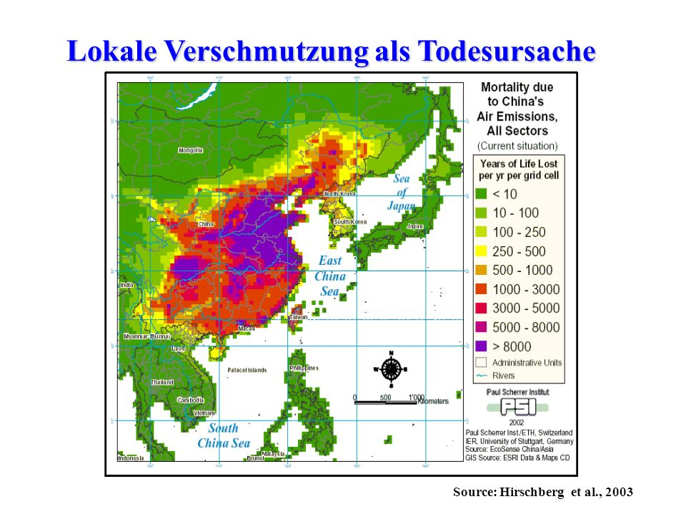 Lokale Verschmutzung als Todesursache