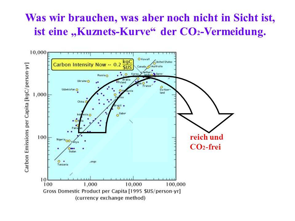 """Was wir brauchen, was aber noch nicht in Sicht ist, ist eine """"Kuznets-Kurve der CO2-Vermeidung."""