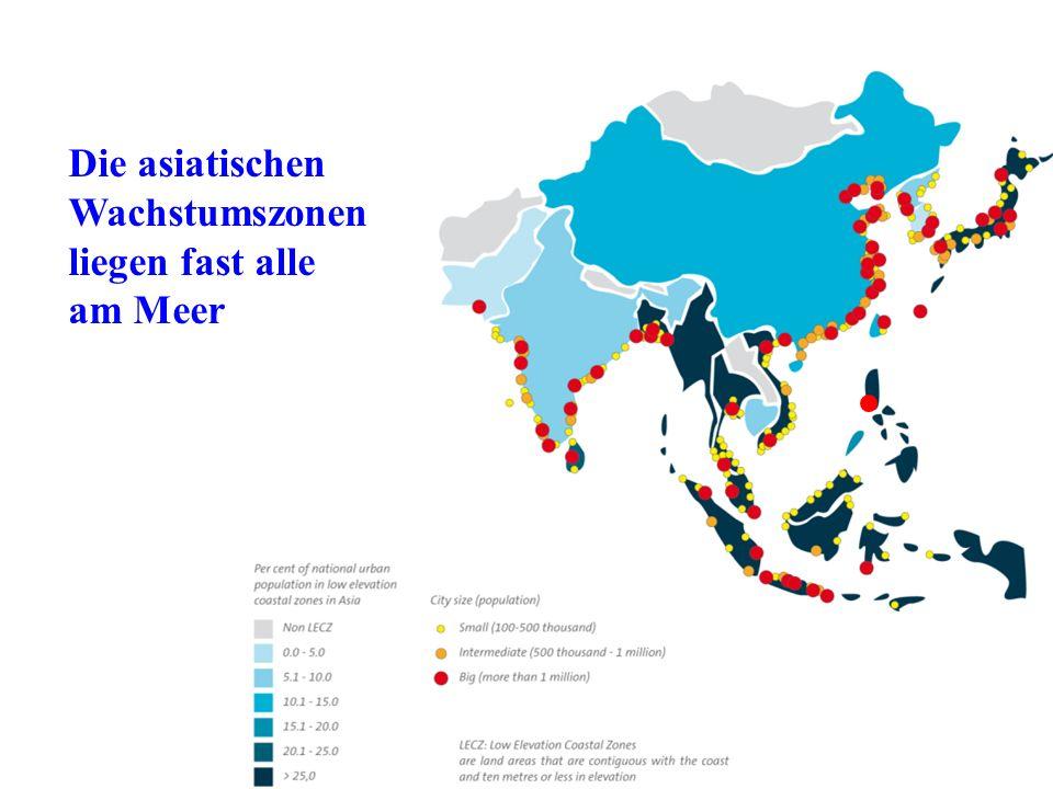 Die asiatischen Wachstumszonen liegen fast alle