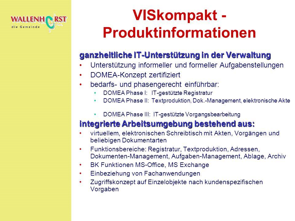 VISkompakt - Produktinformationen