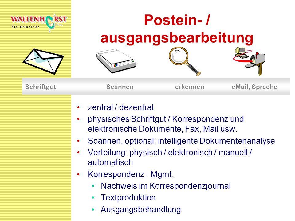Postein- / ausgangsbearbeitung