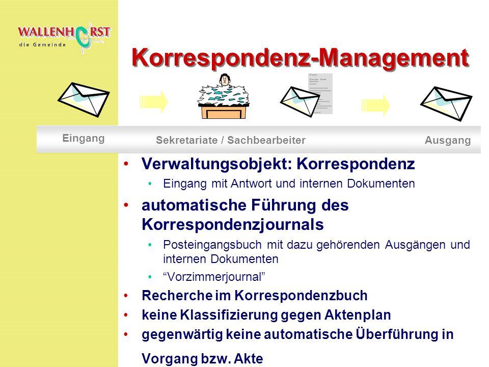 Korrespondenz-Management