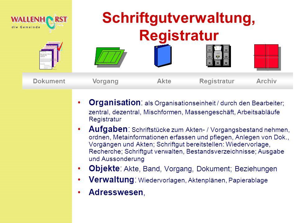 Schriftgutverwaltung, Registratur