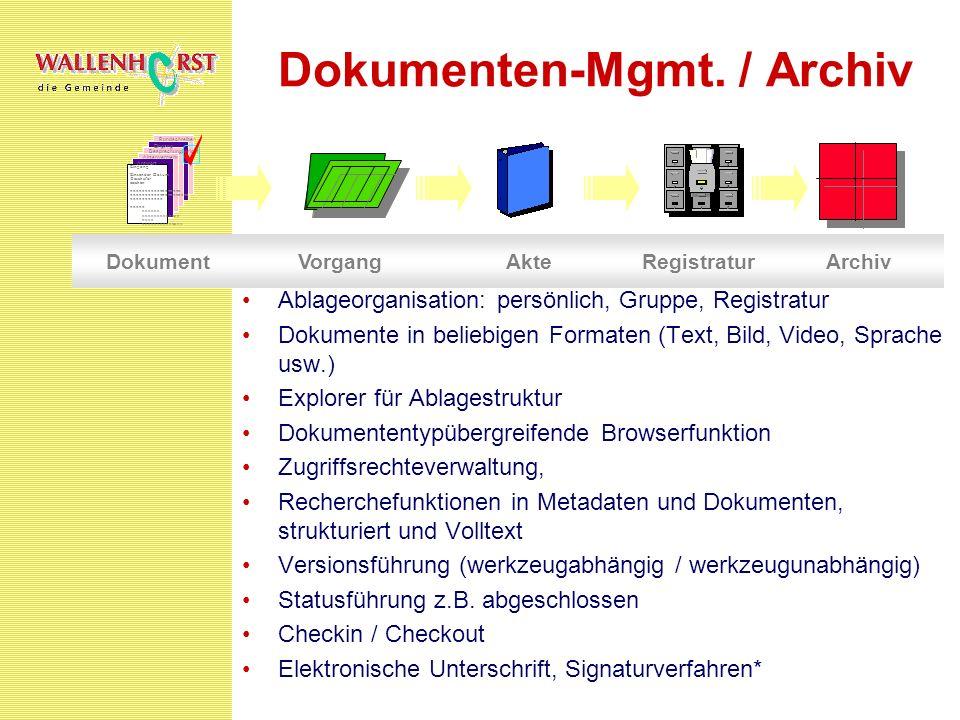 Dokumenten-Mgmt. / Archiv
