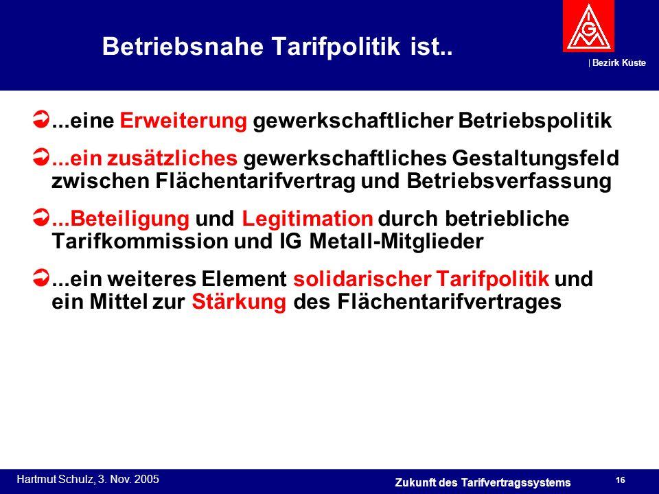 Betriebsnahe Tarifpolitik ist..
