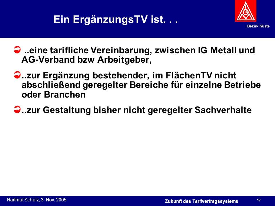 Ein ErgänzungsTV ist. . . ..eine tarifliche Vereinbarung, zwischen IG Metall und AG-Verband bzw Arbeitgeber,