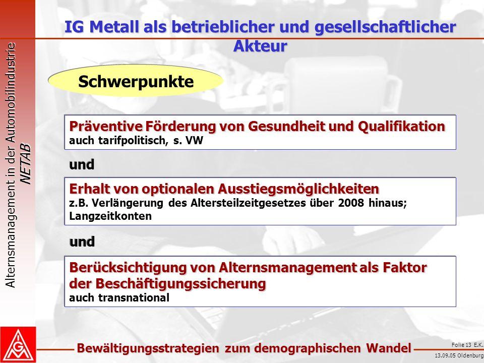 IG Metall als betrieblicher und gesellschaftlicher Akteur