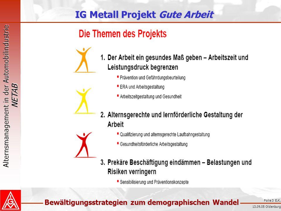 IG Metall Projekt Gute Arbeit
