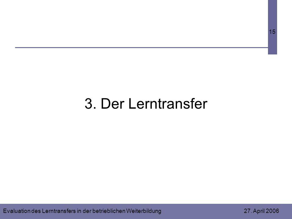 3. Der Lerntransfer
