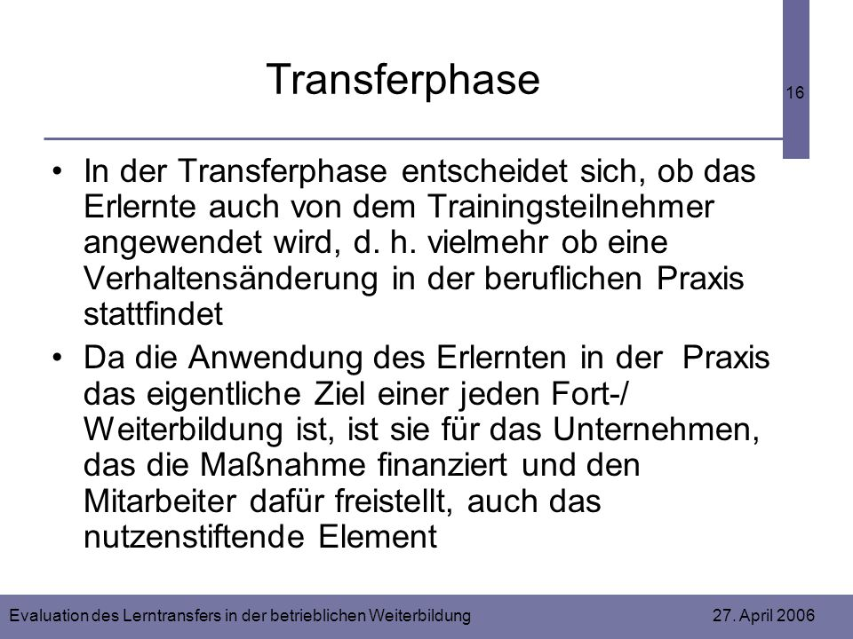 Transferphase