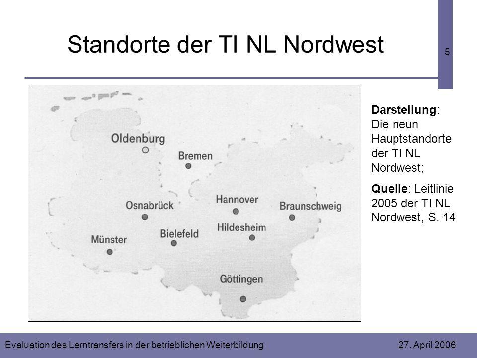 Standorte der TI NL Nordwest