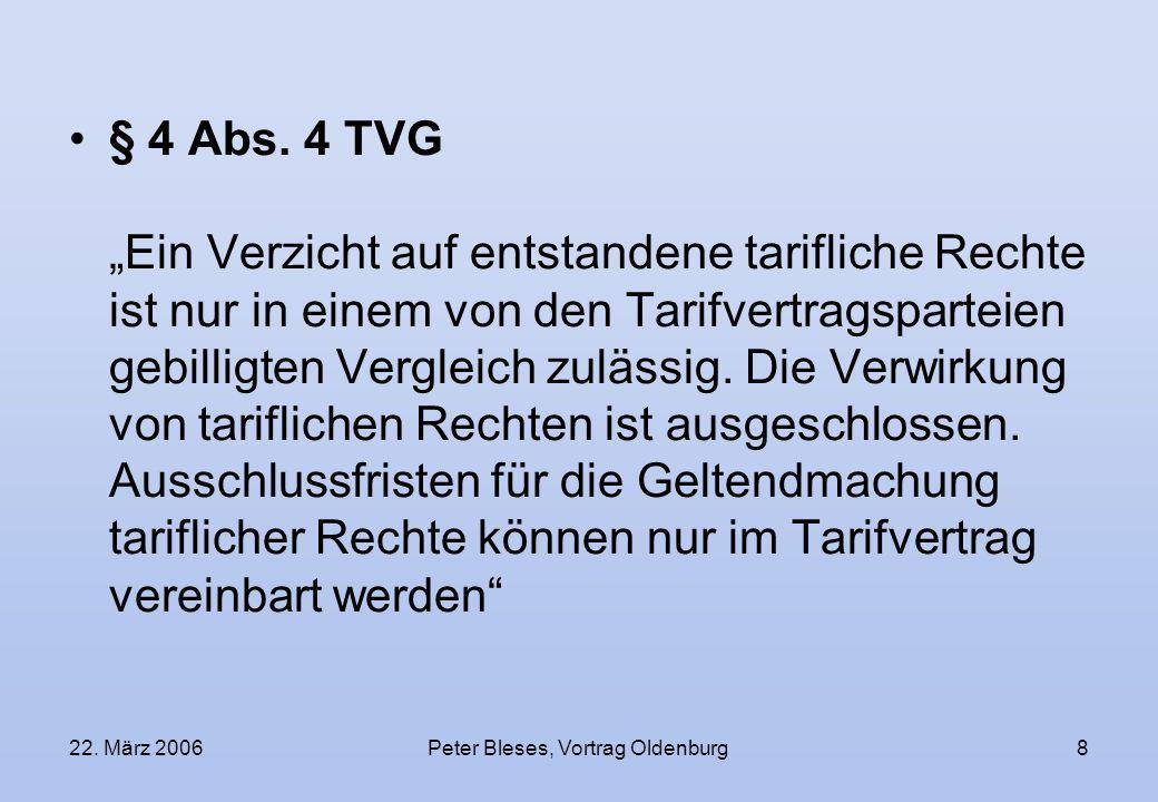 Peter Bleses, Vortrag Oldenburg