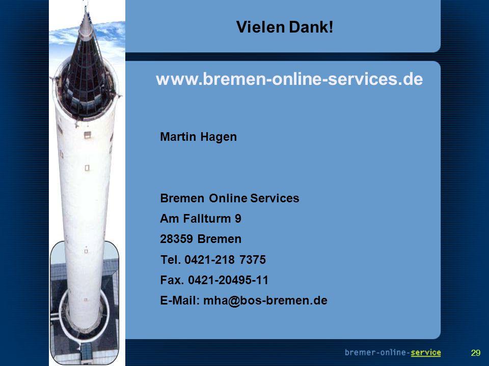 www.bremen-online-services.de Vielen Dank! Martin Hagen
