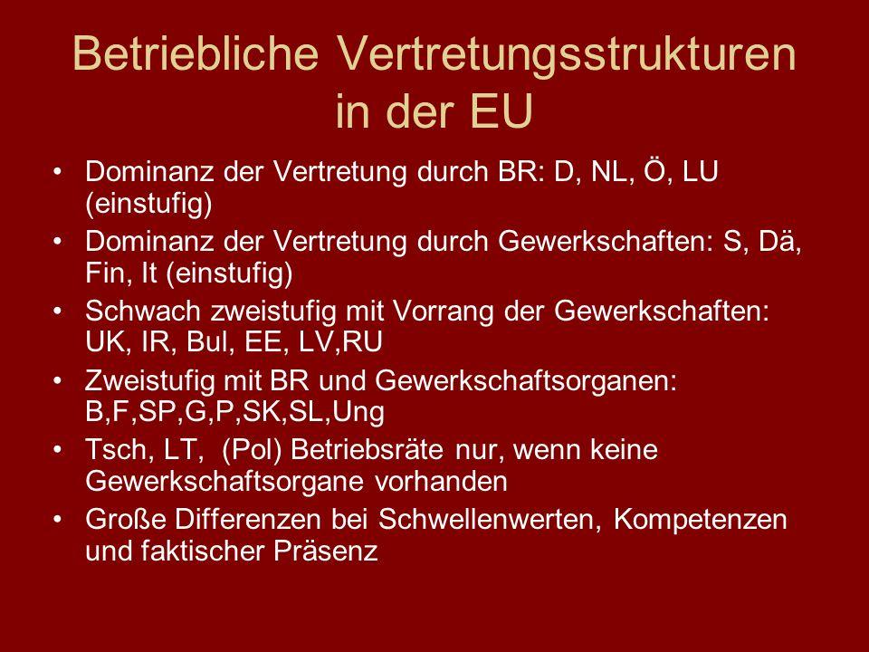 Betriebliche Vertretungsstrukturen in der EU