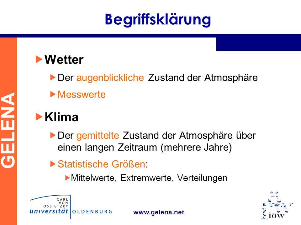 Begriffsklärung Wetter Klima