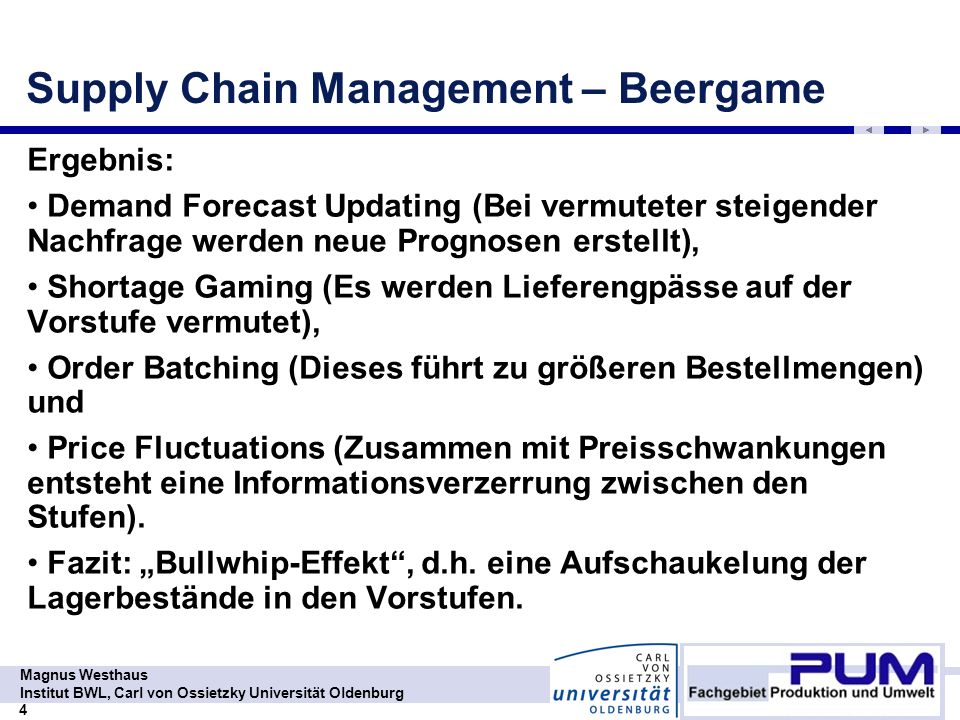 Supply Chain Management – Beergame