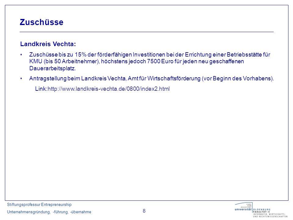 Zuschüsse Landkreis Vechta: