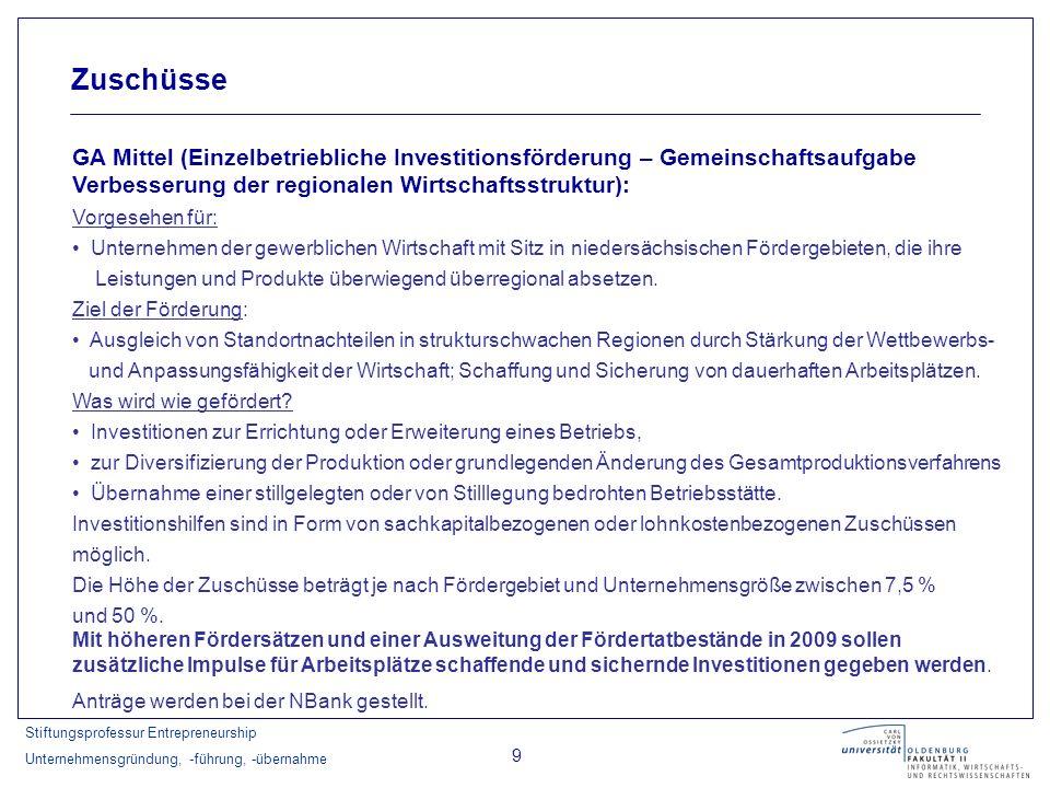 Zuschüsse GA Mittel (Einzelbetriebliche Investitionsförderung – Gemeinschaftsaufgabe Verbesserung der regionalen Wirtschaftsstruktur):