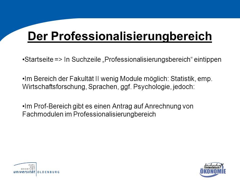 Der Professionalisierungbereich