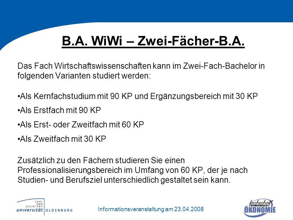 B.A. WiWi – Zwei-Fächer-B.A.