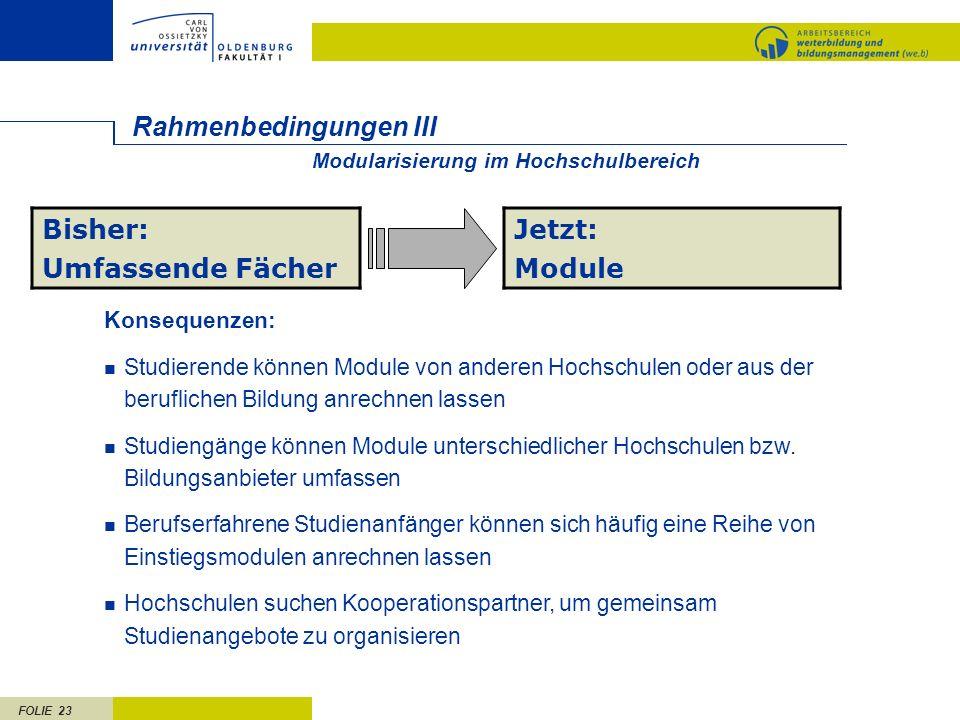 Rahmenbedingungen III