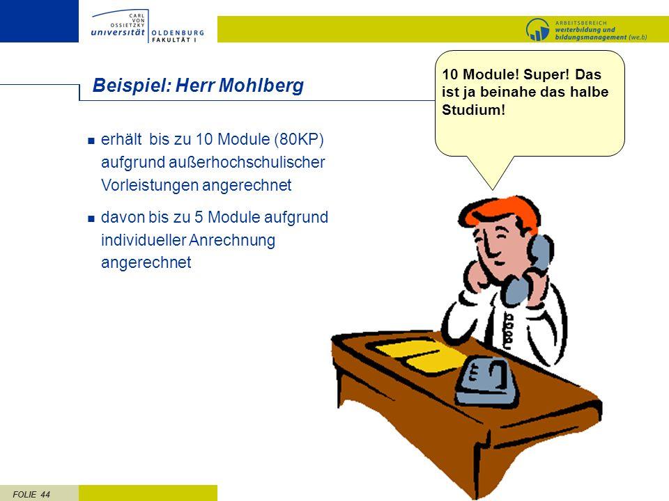 Beispiel: Herr Mohlberg