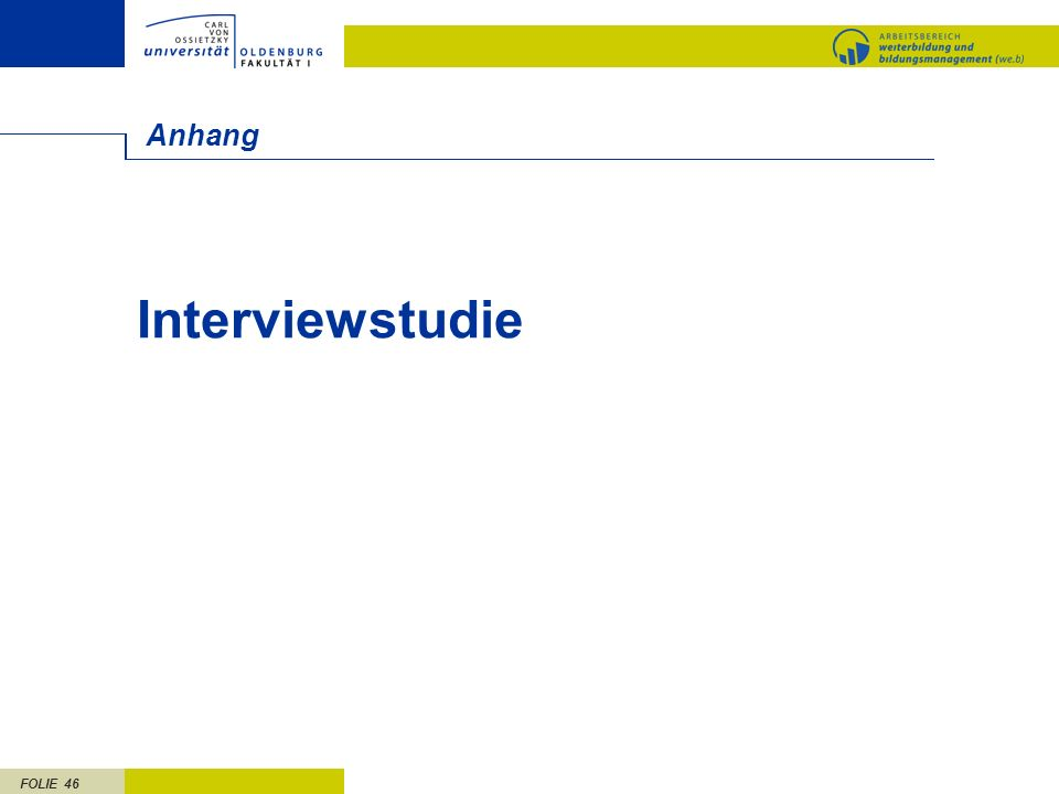 Anhang Interviewstudie