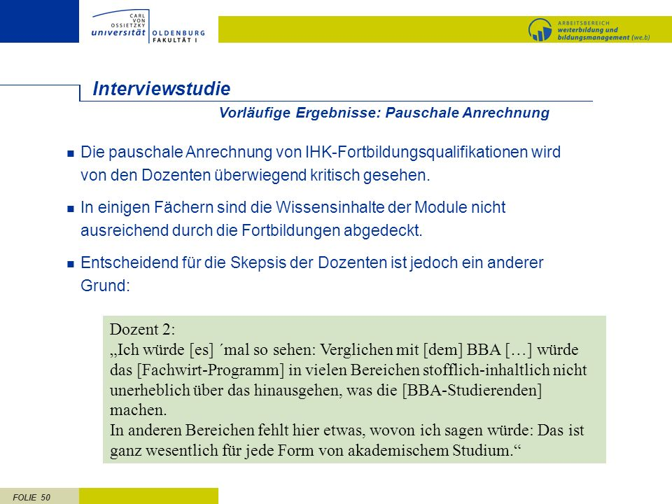 Interviewstudie Dozent 2: