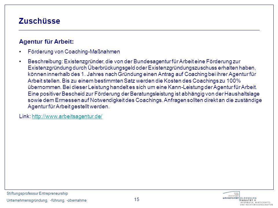 Zuschüsse Agentur für Arbeit: Förderung von Coaching-Maßnahmen