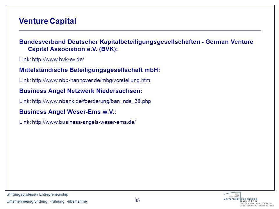 Venture CapitalBundesverband Deutscher Kapitalbeteiligungsgesellschaften - German Venture Capital Association e.V. (BVK):