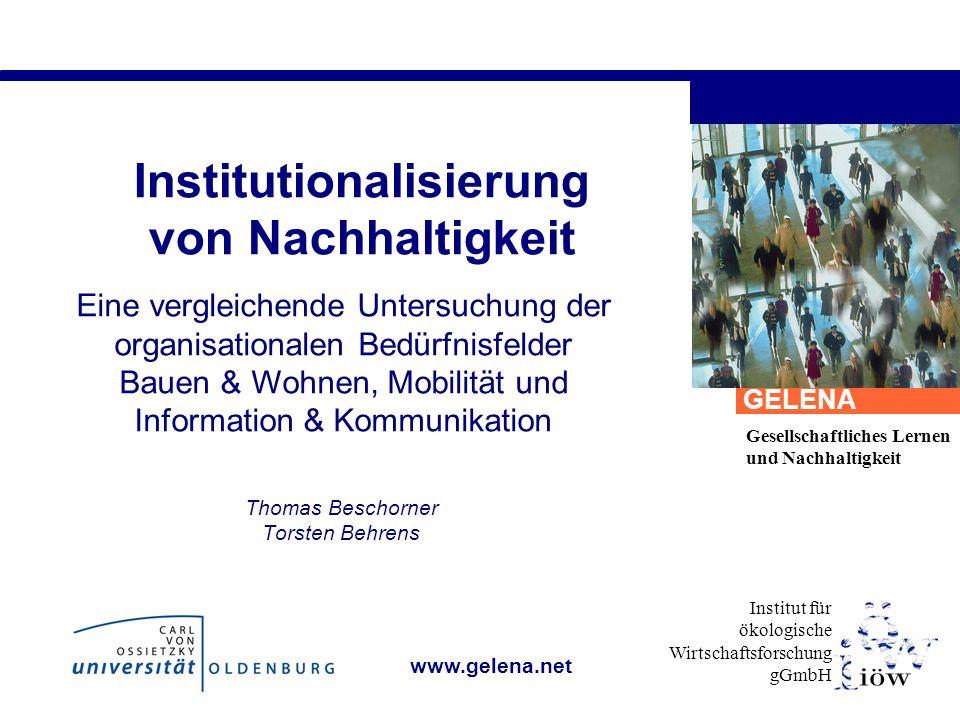 Institutionalisierung von Nachhaltigkeit