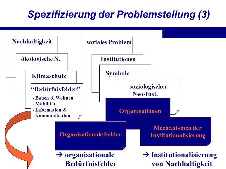 Spezifizierung der Problemstellung (3)
