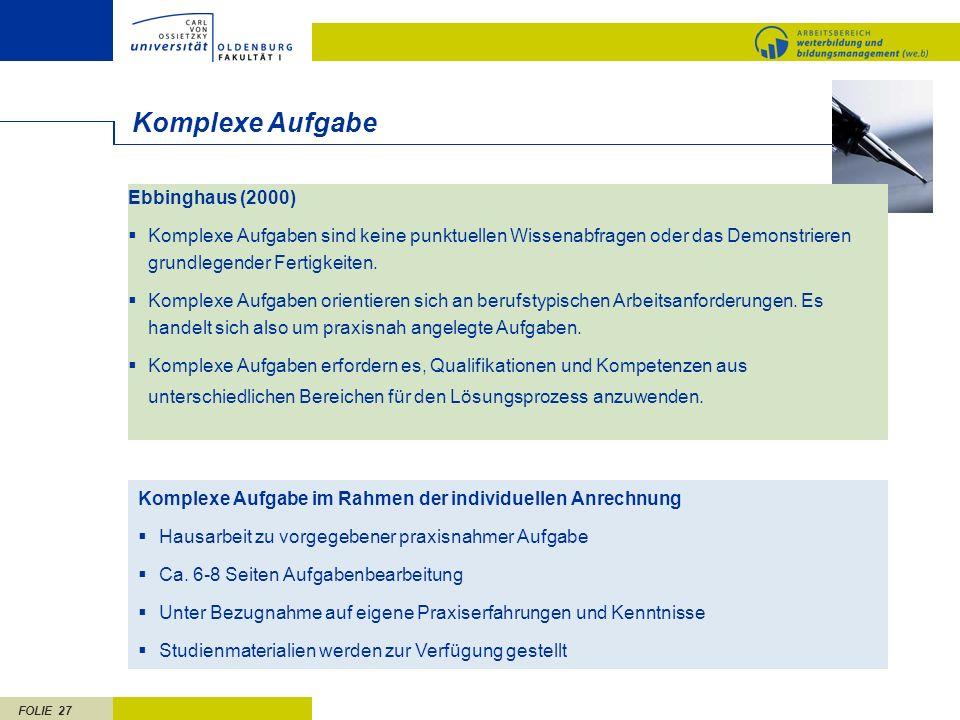 Komplexe Aufgabe Ebbinghaus (2000)