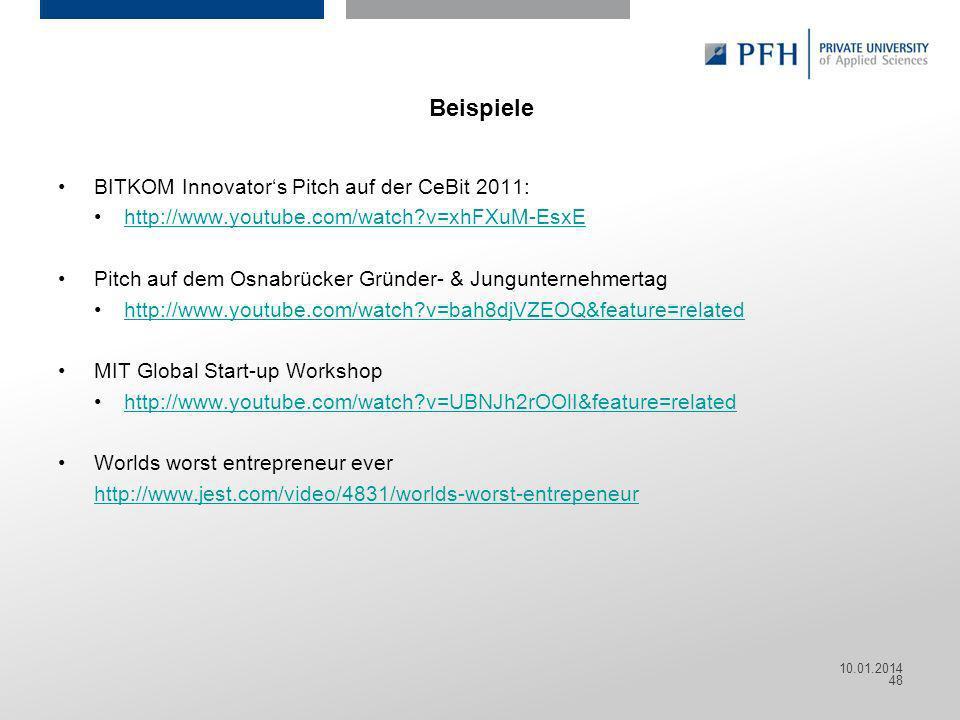 Beispiele BITKOM Innovator's Pitch auf der CeBit 2011: