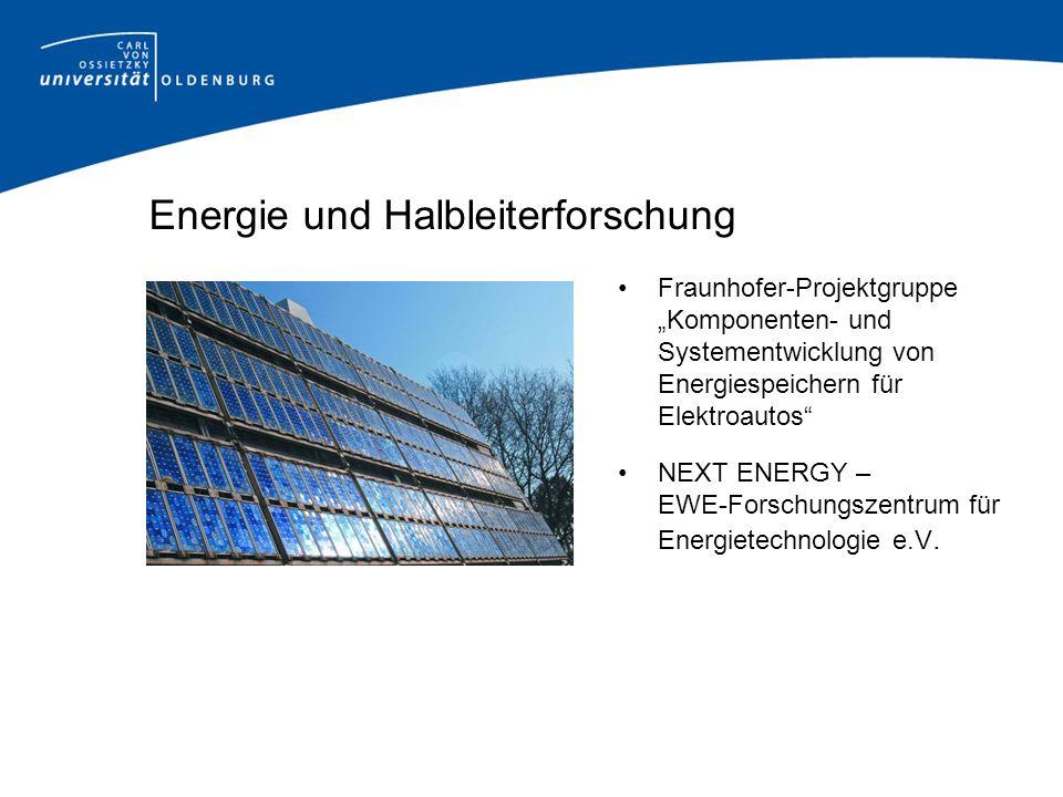 Energie und Halbleiterforschung