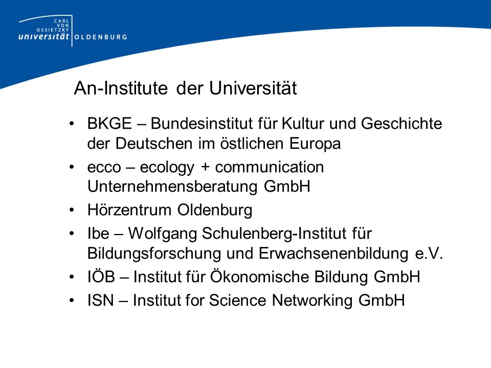An-Institute der Universität