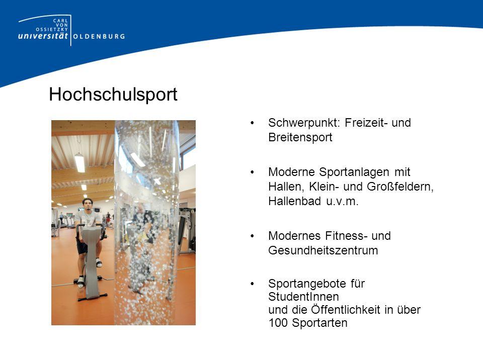 Hochschulsport Schwerpunkt: Freizeit- und Breitensport