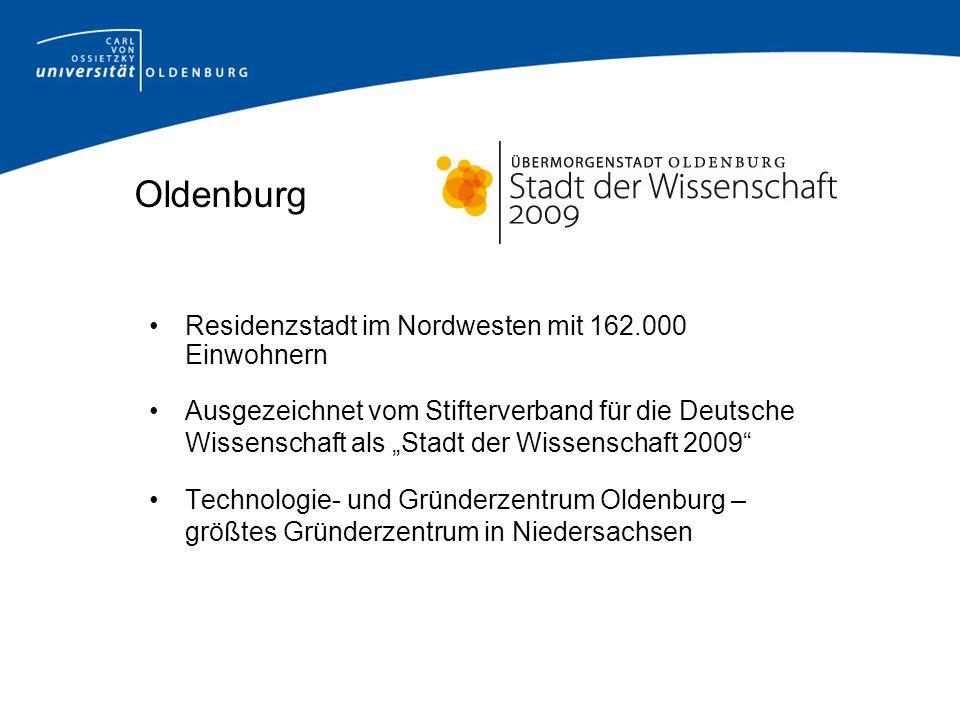 Oldenburg Residenzstadt im Nordwesten mit 162.000 Einwohnern