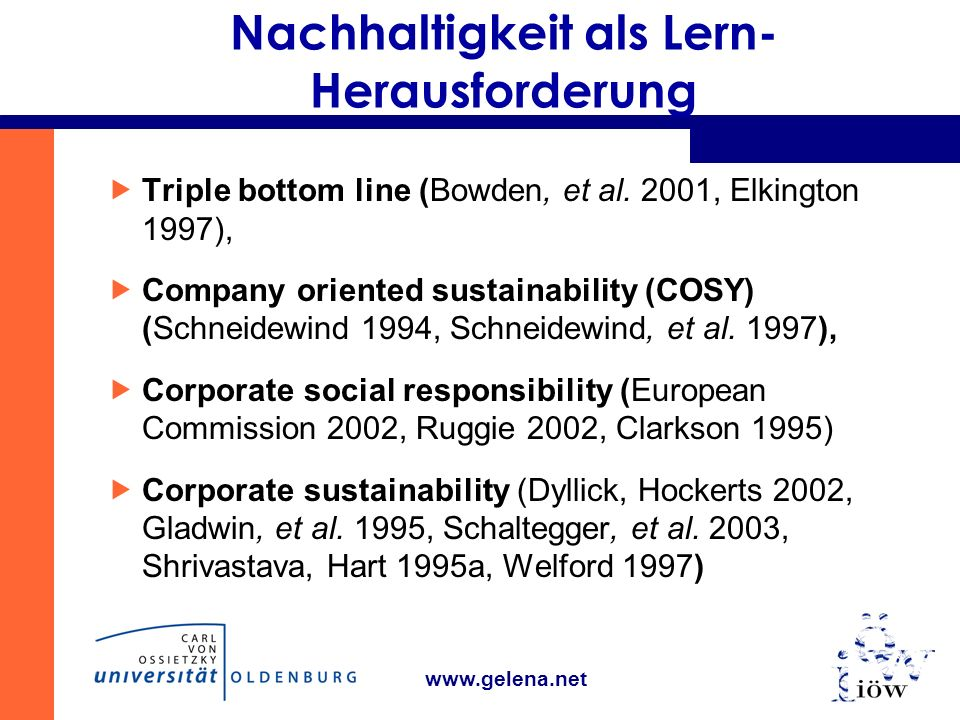 Nachhaltigkeit als Lern-Herausforderung