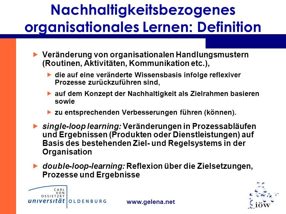 Nachhaltigkeitsbezogenes organisationales Lernen: Definition