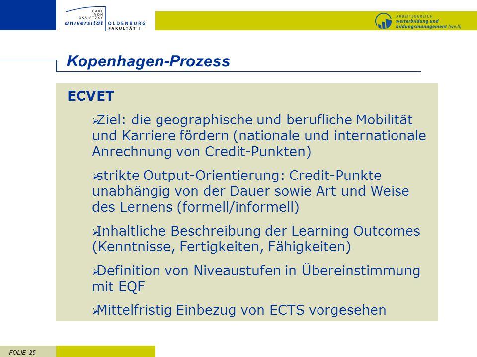 Kopenhagen-Prozess ECVET