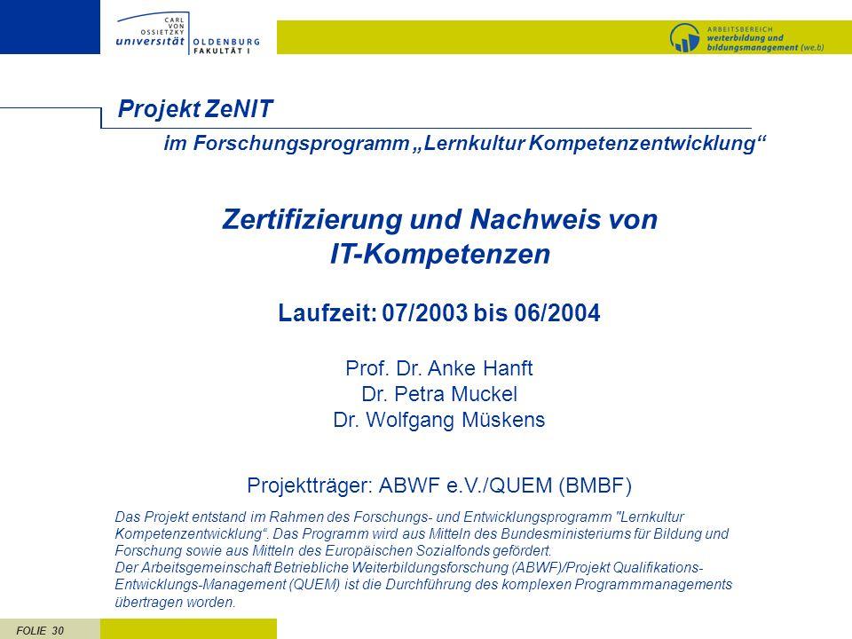 Zertifizierung und Nachweis von IT-Kompetenzen