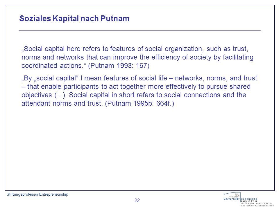 Soziales Kapital nach Putnam