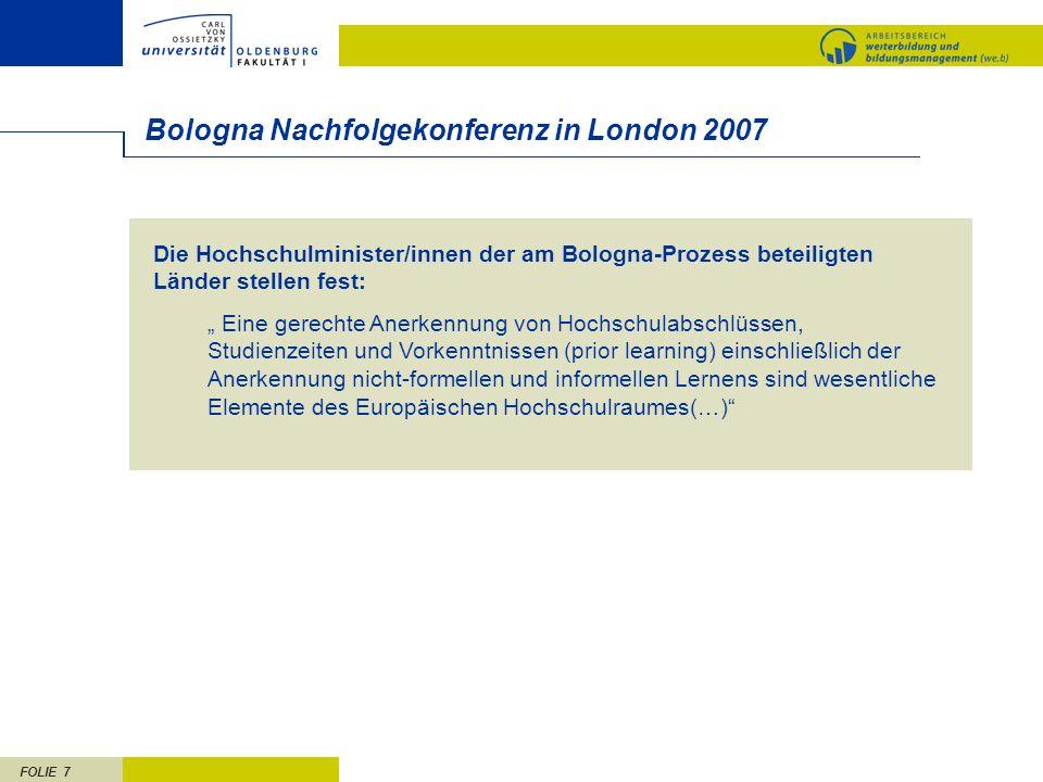 Bologna Nachfolgekonferenz in London 2007