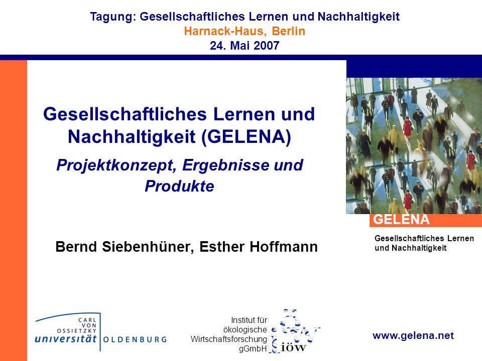 Bernd Siebenhüner, Esther Hoffmann