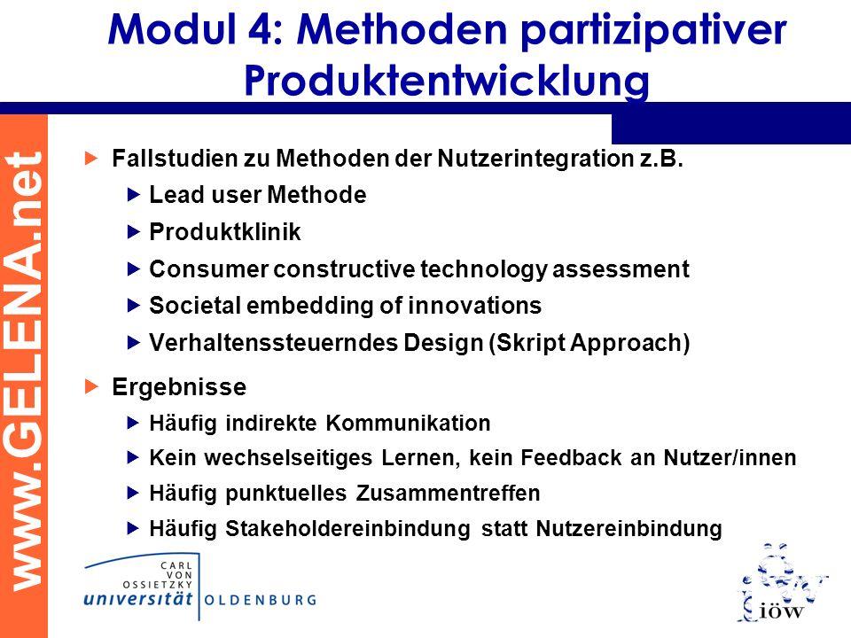 Modul 4: Methoden partizipativer Produktentwicklung
