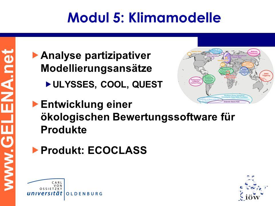 Modul 5: Klimamodelle Analyse partizipativer Modellierungsansätze