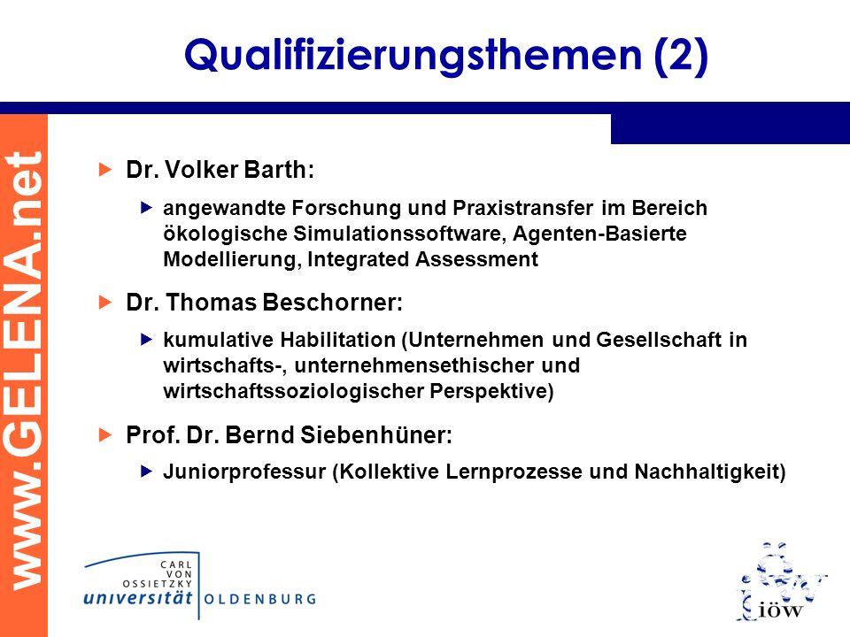 Qualifizierungsthemen (2)