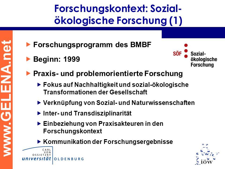 Forschungskontext: Sozial-ökologische Forschung (1)